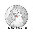Outline Map of Maniitsoq, rectangular outline