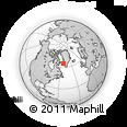 Outline Map of Maniitsoq, rectangular outline