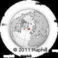 Outline Map of Hrafnabjorg, rectangular outline