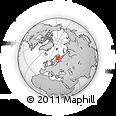 Outline Map of Ranua, rectangular outline
