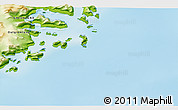 """Physical 3D Map of the area around 65°57'19""""N,35°37'30""""W"""