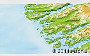 Physical 3D Map of Kangaamiut