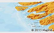 Political 3D Map of Kangaamiut