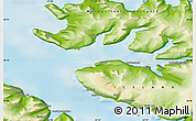 Physical Map of Hnífsdalur