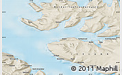 Shaded Relief Map of Hnífsdalur