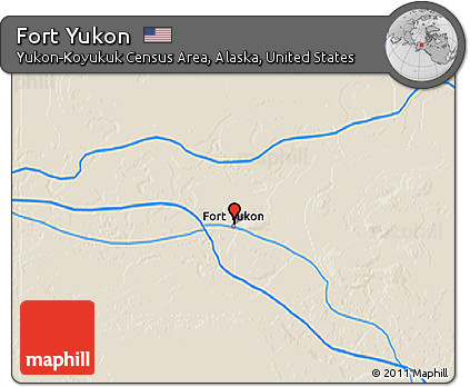Fort Yukon Alaska Map.Free Shaded Relief 3d Map Of Fort Yukon