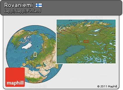 Free Satellite Location Map of Rovaniemi