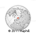 Outline Map of Sjungberget, rectangular outline