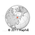 Outline Map of Verkhoyansk, rectangular outline