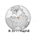 Outline Map of Vorkuta, rectangular outline