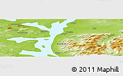 "Physical Panoramic Map of the area around 67° 49' 45"" N, 33° 13' 30"" E"
