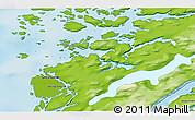 Physical 3D Map of Attu