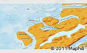 Political 3D Map of Attu