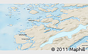 Shaded Relief 3D Map of Attu