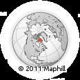 Outline Map of Baffin Island, rectangular outline