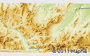 """Physical 3D Map of the area around 68°8'7""""N,136°46'30""""W"""
