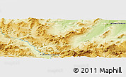 """Physical Panoramic Map of the area around 68°8'7""""N,136°46'30""""W"""