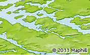 Physical Map of Niaqornaarsuk