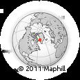 Outline Map of Iginniarfik, rectangular outline