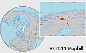 Gray Location Map of Luspa