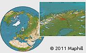 Satellite Location Map of Luspa