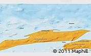 Political 3D Map of Akunnaaq