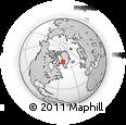 Outline Map of Akunnaaq, rectangular outline