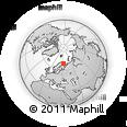 Outline Map of Murmansk, rectangular outline
