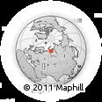 Outline Map of Baydaratskaya Guba, rectangular outline