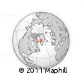 Outline Map of Ilulissat Icefjord, rectangular outline