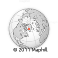 Outline Map of Ilulissat, rectangular outline