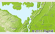 """Physical 3D Map of the area around 6°28'13""""N,0°4'30""""E"""