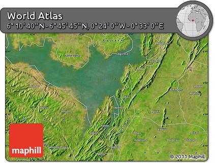 "Satellite Map of the Area around 6°28'13""N,0°4'30""E"