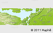 """Physical Panoramic Map of the area around 6°28'13""""N,0°4'30""""E"""