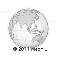 """Outline Map of the Area around 6° 28' 13"""" N, 100° 22' 30"""" E, rectangular outline"""