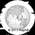 Outline Map of Kangar, rectangular outline