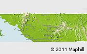Physical Panoramic Map of Satun