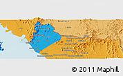Political Panoramic Map of Satun
