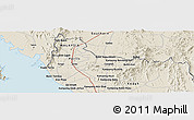 Shaded Relief Panoramic Map of Satun