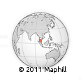 Outline Map of Yala, rectangular outline