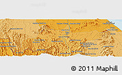 Political Panoramic Map of Yala