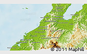 Physical 3D Map of Kota Belud