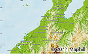 """Physical Map of the area around 6°28'13""""N,116°31'30""""E"""