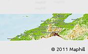Physical Panoramic Map of Kota Belud