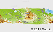Physical Panoramic Map of Koronadal