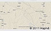"""Shaded Relief 3D Map of the area around 6°28'13""""N,18°46'29""""E"""