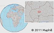 Gray Location Map of Gbairi