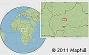 Savanna Style Location Map of Gbairi