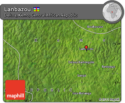 Satellite Map of Lanbazou