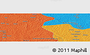 """Political Panoramic Map of the area around 6°28'13""""N,18°46'29""""E"""